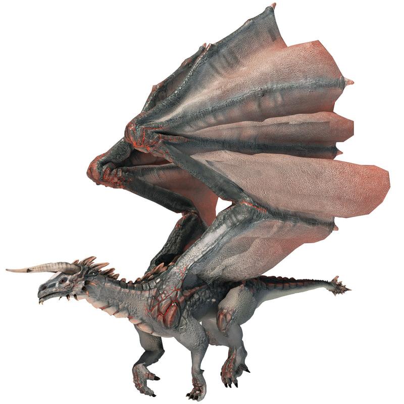 3dsmax realistic volcano dragon pose
