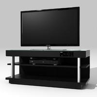 3d model compact home theatre samsung tv