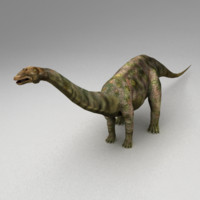 rigged apatosaurus animation 3d max