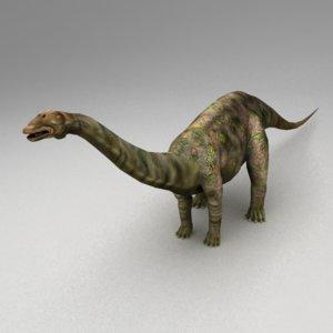 rigged apatosaurus animation 3d max