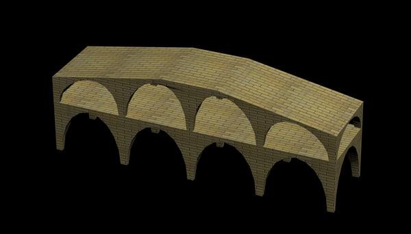 free aqueduct 3d model