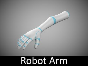 humanoid robotic arm 3d ma