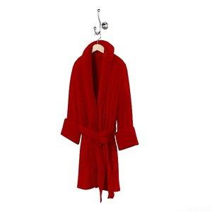 3d model bath robe bathrobe
