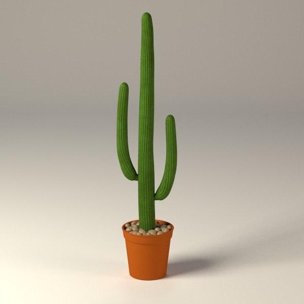 3dsmax cactus pot