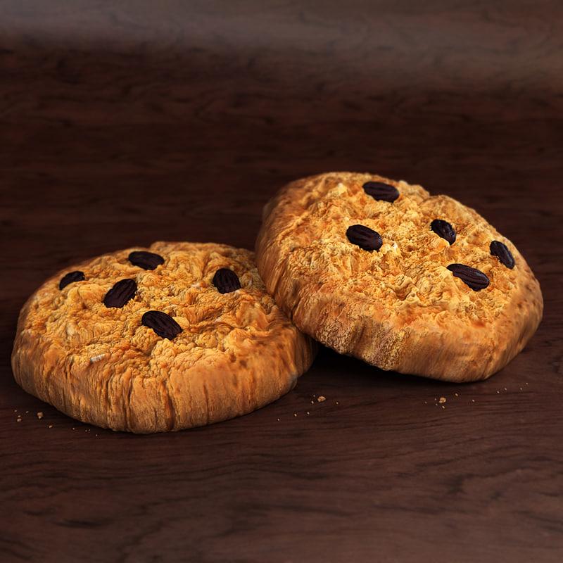 raisin cookie 3d max