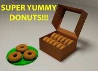 3d donuts box model