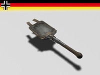 German entrenching shovel
