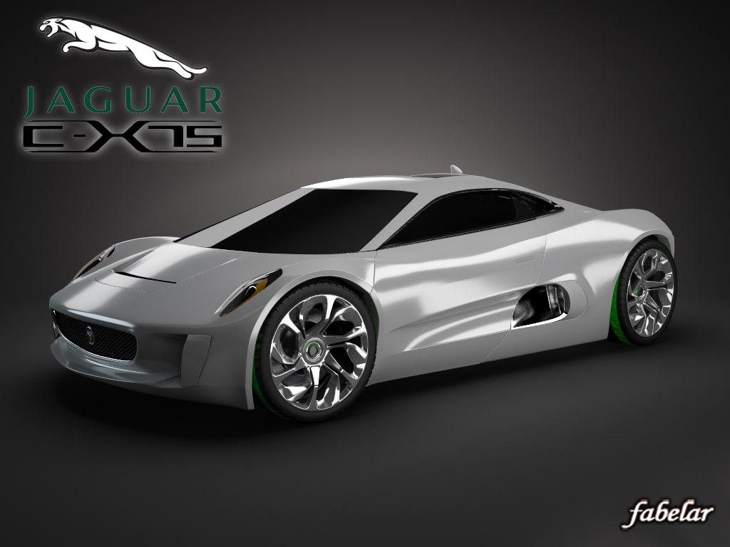 3d c-x75 concept photorealistic model