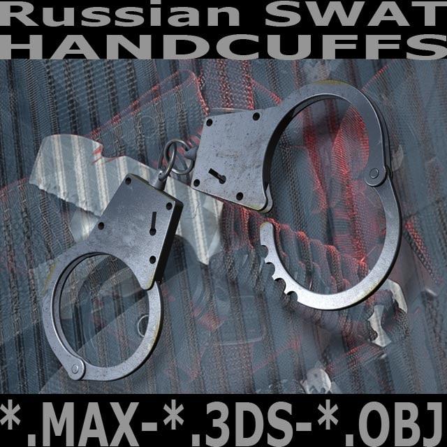 hi russian swat handcuffs 3d model