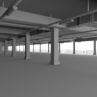 3d model car park