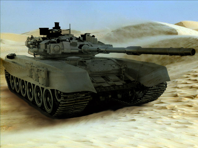 russian battle tank t-90 3d model