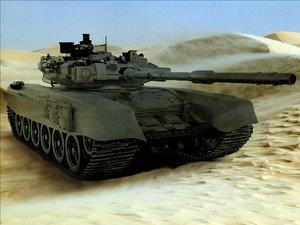 russian battle tank t-90 3d model