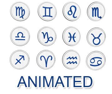 3d model set zodiac signs