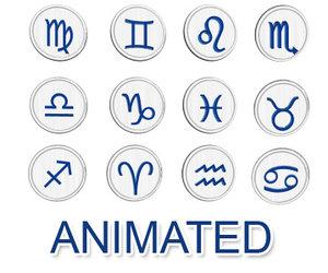3d model of set zodiac signs