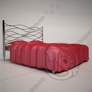 3d sinus metal bed cattelan model