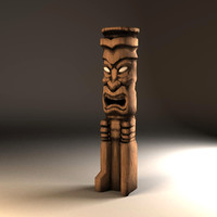central tiki statue 3ds