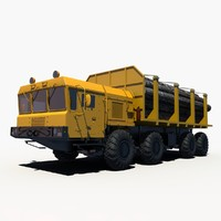 3d russian logging transport