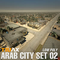 Arab Cityscape Set 02 - Low Poly