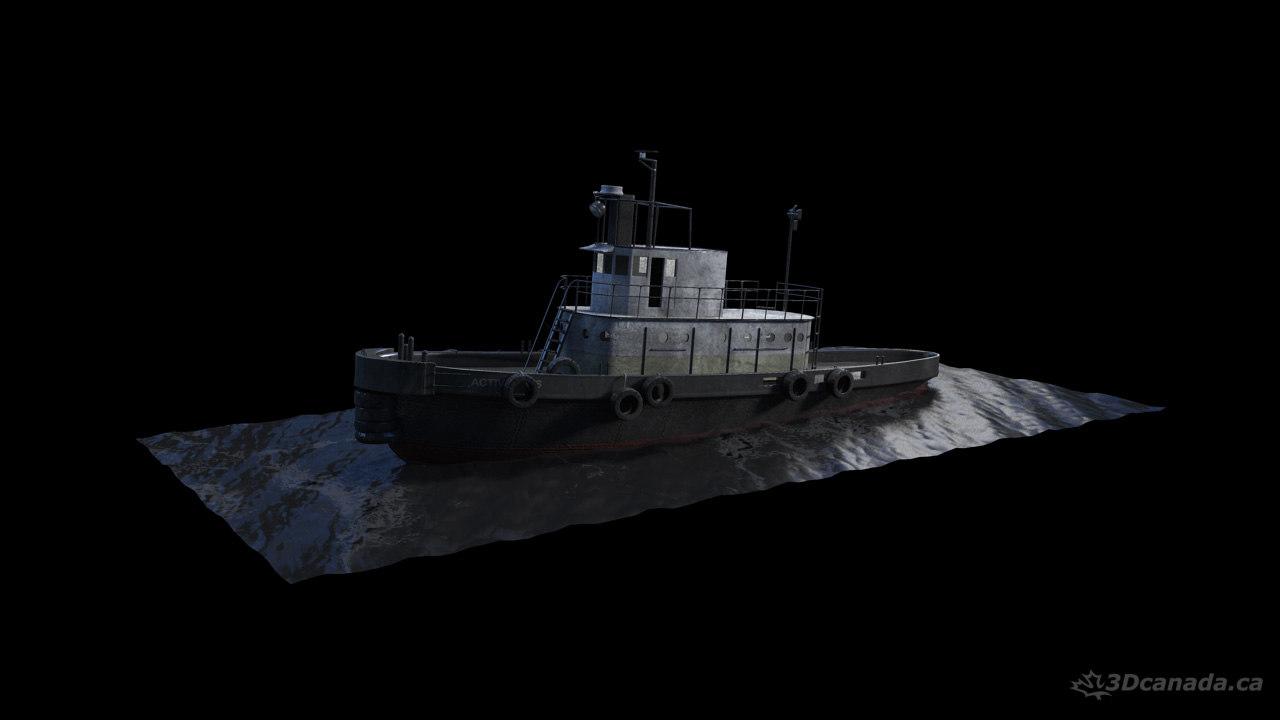 3d model tugboat boat