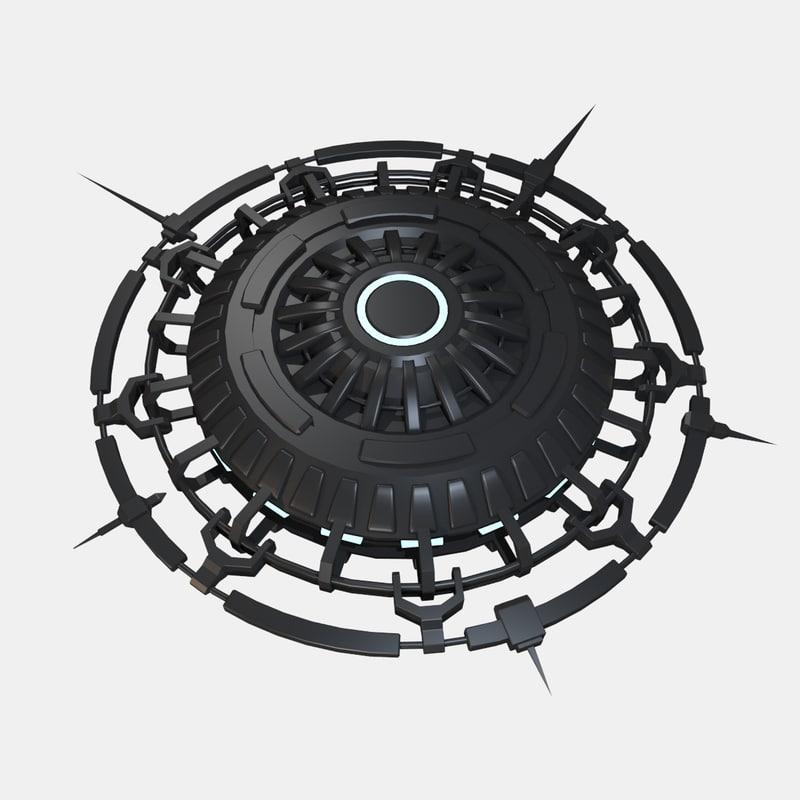 3d model alien spacecraft ufo