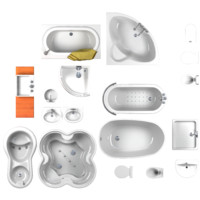 3d bathroom set model