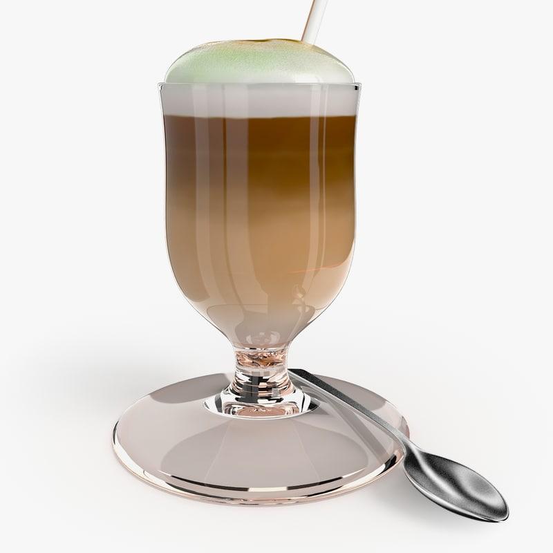 cup latte 3d model
