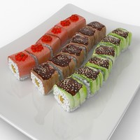 3d model sushi dragons