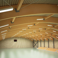 3d sport hall model