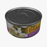 3d pet food model