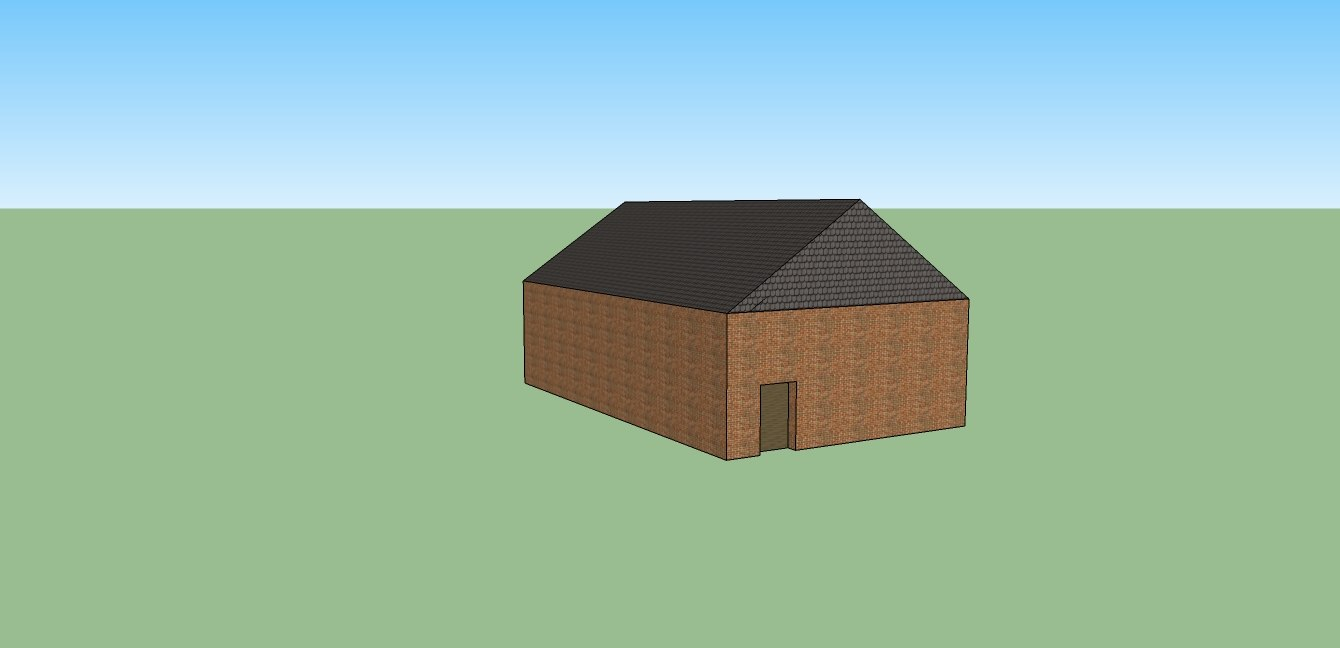 simple brick house 3ds free