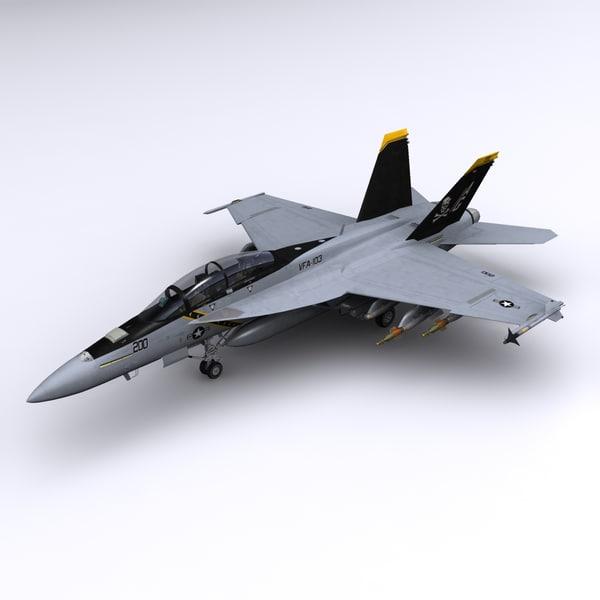 3d f super hornet fighter