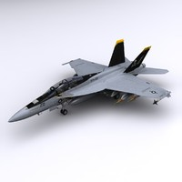 3d f super hornet fighter