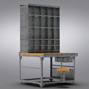 3d model restoration hardware - 1930s