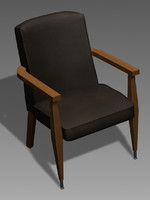 1960s office chair 3d max