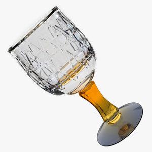 3d antiquarian glass wine