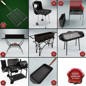 barbecue v4 3d 3ds