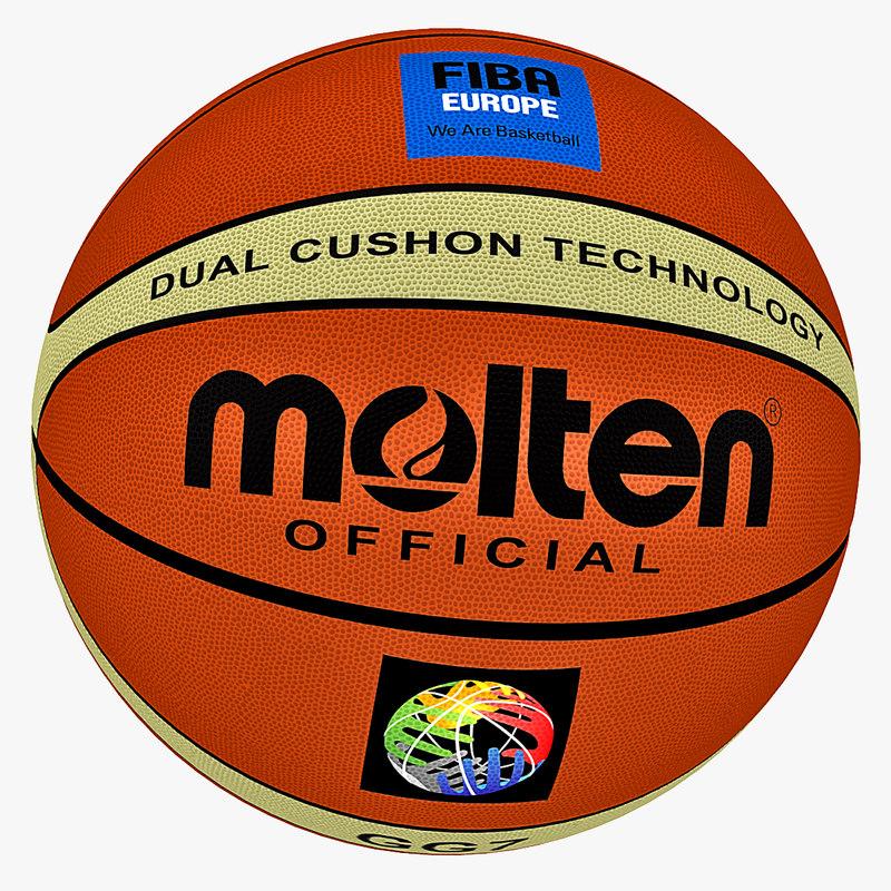 free obj model basketball ball