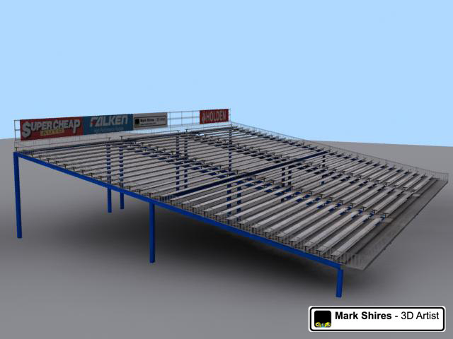 3d race track model