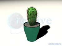 3ds max cactus pot prickles