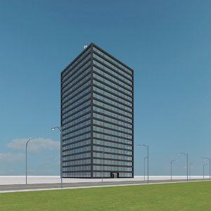 new skyscraper 35 3d max