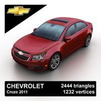 3d model 2011 chevrolet cruze
