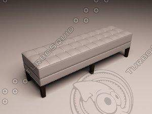 3d model eichholtz bench tribeca