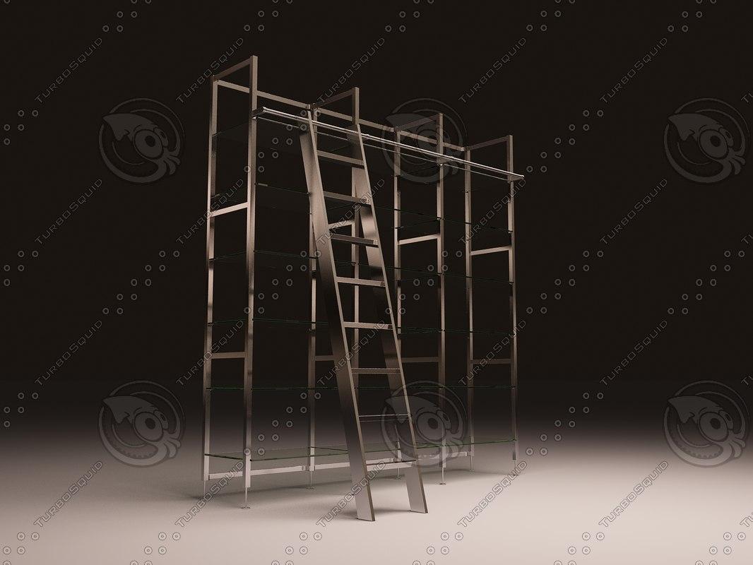 3d model eichholtz cabinet delano incl