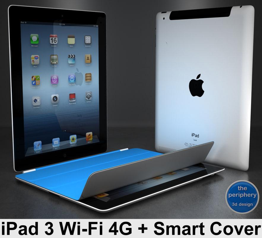 3d model of apple ipad 3 wi-fi