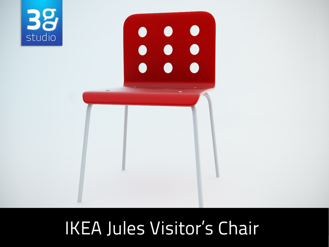 3d model of ikea jules visitor s chair