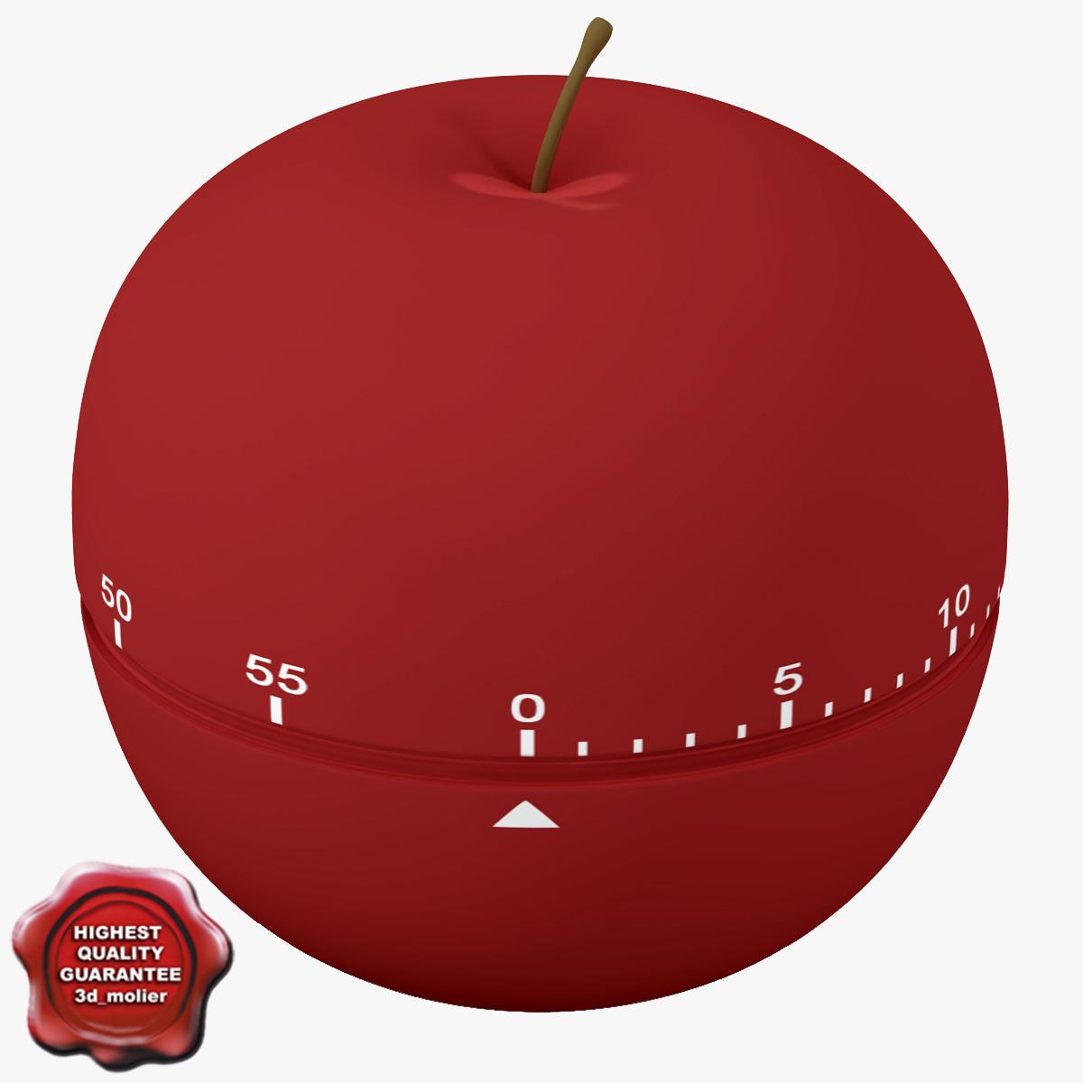 3ds max kitchen timer apple