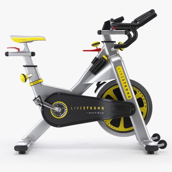 professional exercise bike matrix 3d model