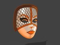 3d model venetian mask