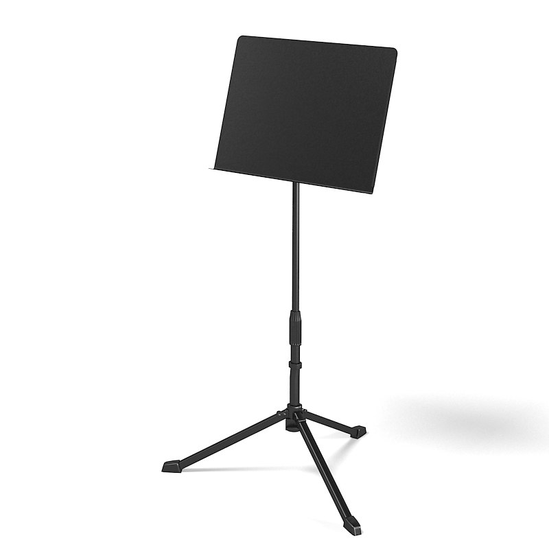 3d music stand orchestral model