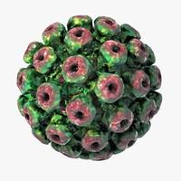 3d model polyomavirus